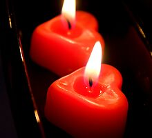 Romantic candles by Mariann Rea