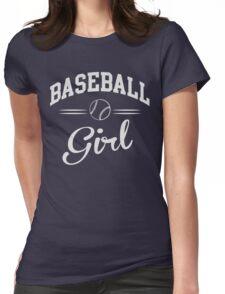 Baseball Girl Womens Fitted T-Shirt