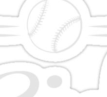 Baseball Girl Sticker