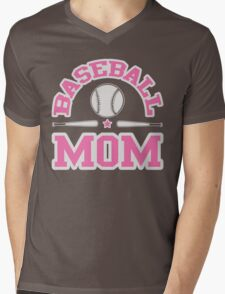 Baseball Mom Mens V-Neck T-Shirt
