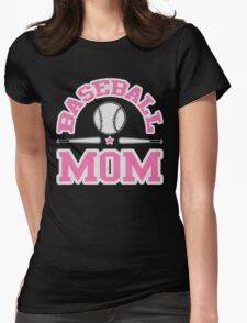 Baseball Mom Womens Fitted T-Shirt