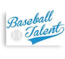 Baseball Talent Canvas Print