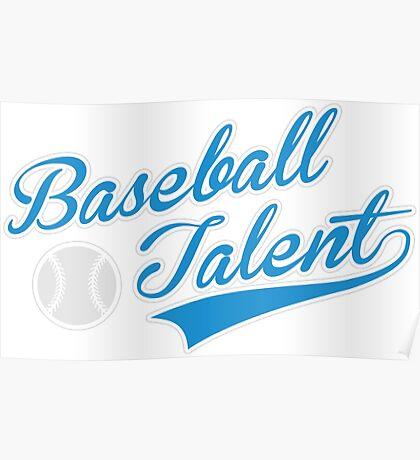 Baseball Talent Poster