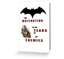 Batman, Bane, DC, Motivation Greeting Card
