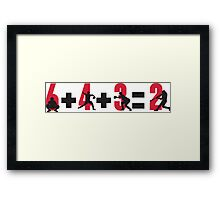 Baseball double play: 6+4+3=2 Framed Print