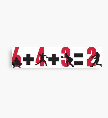 Baseball double play: 6+4+3=2 Canvas Print