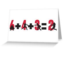 Baseball double play: 6+4+3=2 Greeting Card