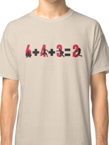 Baseball double play: 6+4+3=2 Classic T-Shirt