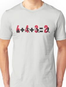 Baseball double play: 6+4+3=2 Unisex T-Shirt