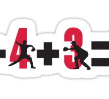 Baseball double play: 6+4+3=2 Sticker