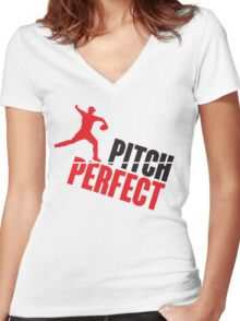 Pitch perfect Women's Fitted V-Neck T-Shirt