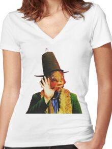Captain Beefheart Trout Mask Replica Women's Fitted V-Neck T-Shirt