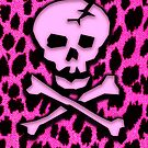 Pink Skull Leopard by Roseanne Jones