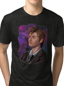 David Tennant the 10th Doctor Tri-blend T-Shirt