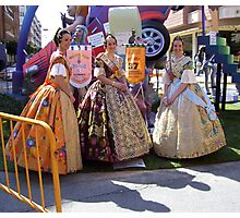 """""""The ladies of the Fallas. Photographic Print"""