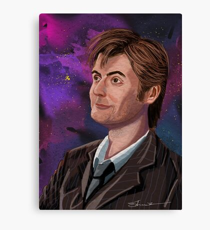 David Tennant the 10th Doctor Canvas Print