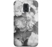 Hydrangea in Black and White Samsung Galaxy Case/Skin