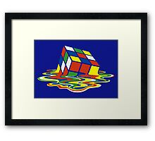 Rubiks Magic Cube in the Ocean Sea Framed Print