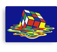Rubiks Magic Cube in the Ocean Sea Canvas Print