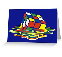 Rubiks Magic Cube in the Ocean Sea Greeting Card