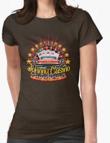 Johhny Casino Autoshop Womens Fitted T-Shirt