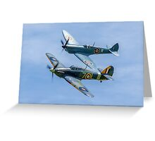 Sea Hurricane & Spitfire formation Greeting Card