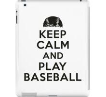 Keep calm and play baseball iPad Case/Skin