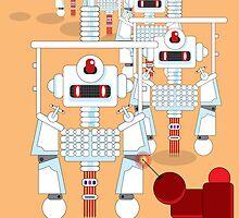 Robot Assembly Line by Dentanarts
