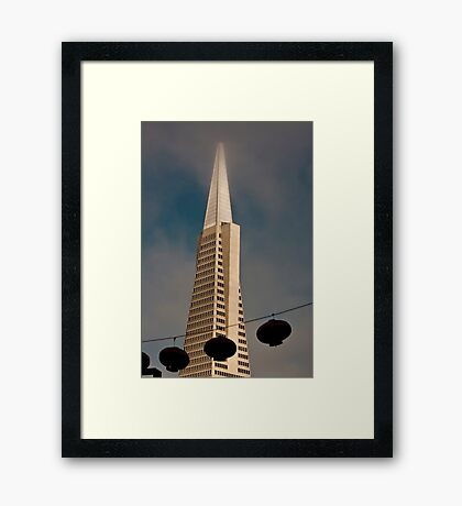 TransAmerica Pyramid Building San Francisco with Incoming Fog Framed Print