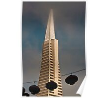 TransAmerica Pyramid Building San Francisco with Incoming Fog Poster
