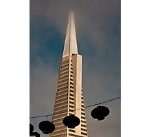 TransAmerica Pyramid Building San Francisco with Incoming Fog Photographic Print