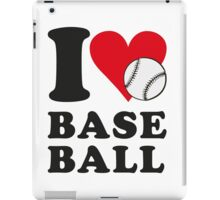 I love baseball iPad Case/Skin