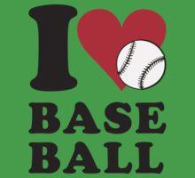 I love baseball One Piece - Short Sleeve