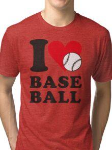 I love baseball Tri-blend T-Shirt