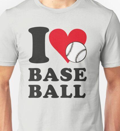 I love baseball Unisex T-Shirt
