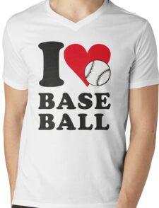 I love baseball Mens V-Neck T-Shirt