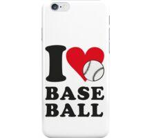 I love baseball iPhone Case/Skin