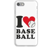 I love baseball iPhone Case/Skin