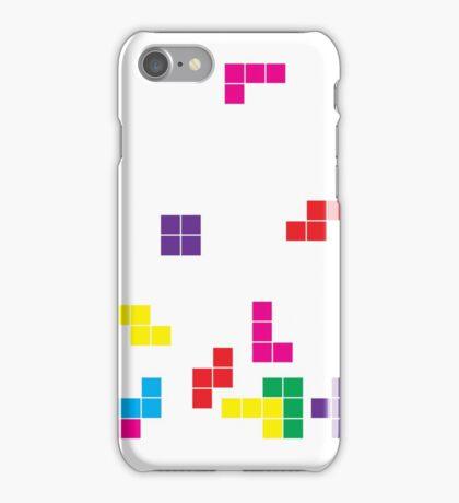 tetris on white iPhone Case/Skin