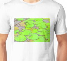 Green Lotus Leafs in water colour effect Unisex T-Shirt