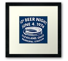 Cleveland 10 Cent Beer Night  Framed Print