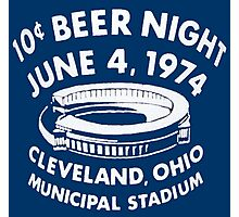 Cleveland 10 Cent Beer Night  Photographic Print