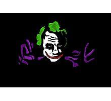 Black joker Photographic Print