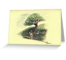 Bag End - A Hobbit's Home Underthehill. Greeting Card