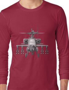 Apache Helicopter Long Sleeve T-Shirt