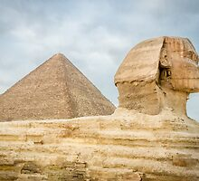 The Sphinx and Pyramid of Khufu by Sue Martin