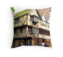 Ye Olde Shoppe Throw Pillow