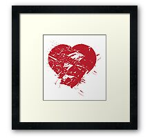 Hand drawn red heart Framed Print