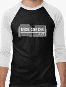 Quarter Mile  Men's Baseball ¾ T-Shirt