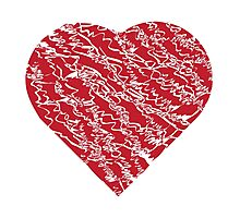 Hand drawn red heart 2 Photographic Print